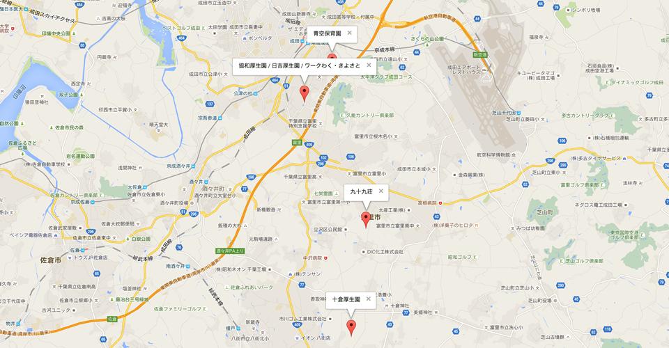 GoogleMap : 施設所在マップ